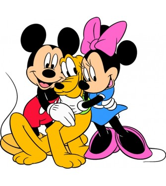 Mickey, Minnie a Pluto 01